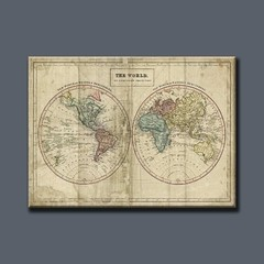 Old World Eastern Western Map - comprar online