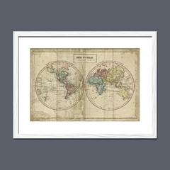 Imagen de Old World Eastern Western Map