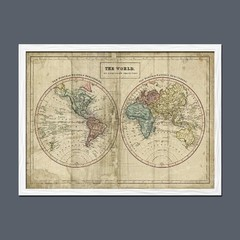 Old World Eastern Western Map - tienda online