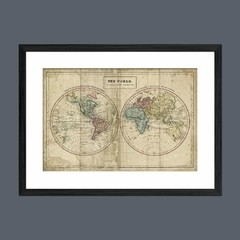 Old World Eastern Western Map - Sur Arte Shop - Láminas y Cuadros