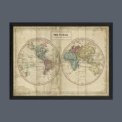 Old World Eastern Western Map en internet