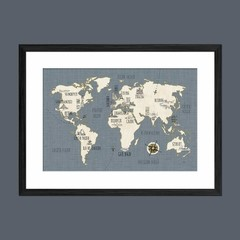 Doodles Map - Sur Arte Shop - Cuadros