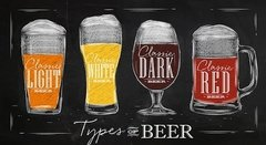 Types of Beer - Sur Arte Shop - Láminas y Cuadros