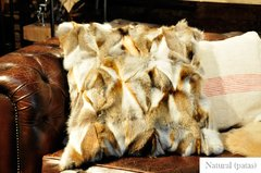 fox fur pillows on internet