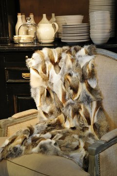 fox fur throws