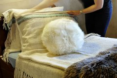 Round Sheepskin Pillows