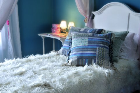 natural angora goat skin throws