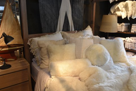 sheepskin throws