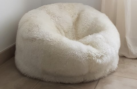 PANCHA sheepskin fur puff