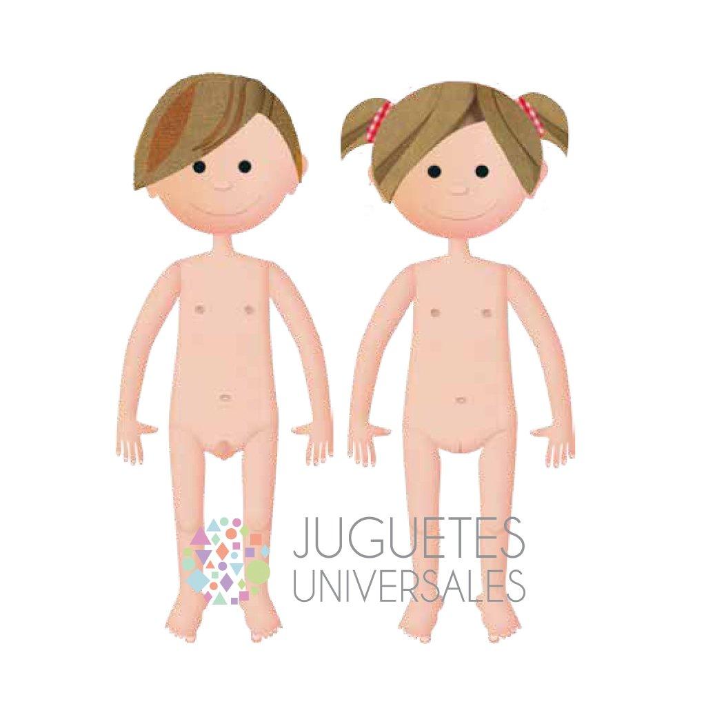 Partes del cuerpo desnudo - Juguetes Universales — Juguetes Universales