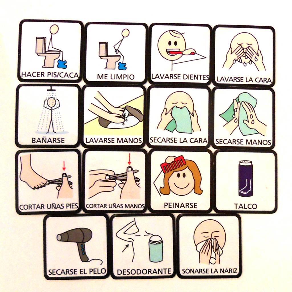 Pictos imantados - Rutinas de higiene — Juguetes Universales