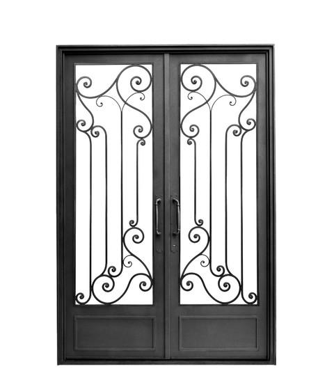 Del hierro design for Puertas dobles de hierro antiguas