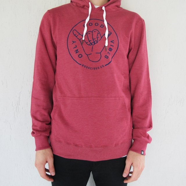 Print Hoodie Only Good Vibes