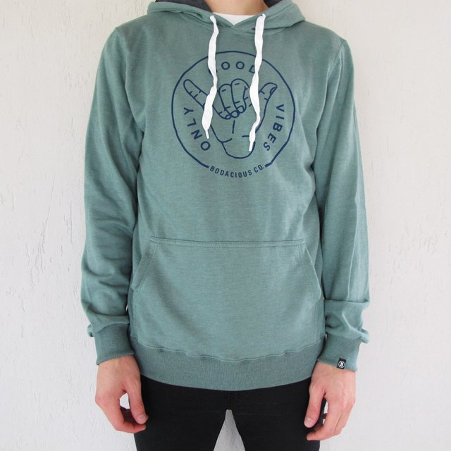 Print Hoodie Only Good Vibes - Bodacious Clothing