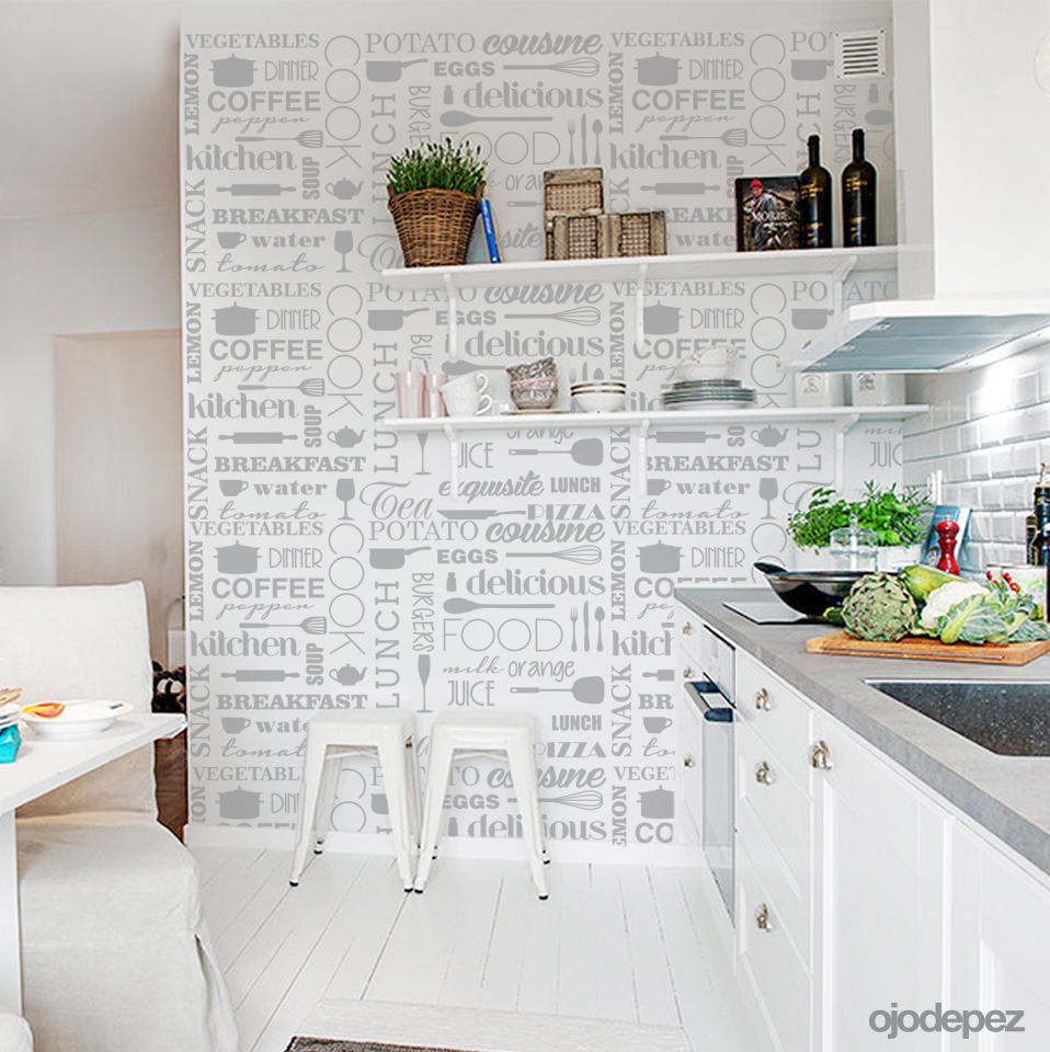 Home 042 trama de cocina - Papel decorativo cocina ...