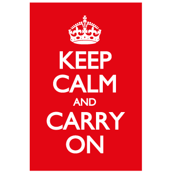 Pack 043 | Keep calm and carry on  (Mantén la calma y continúa) en internet