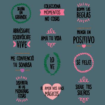 Pack 053 Frases Positivas Gestuales