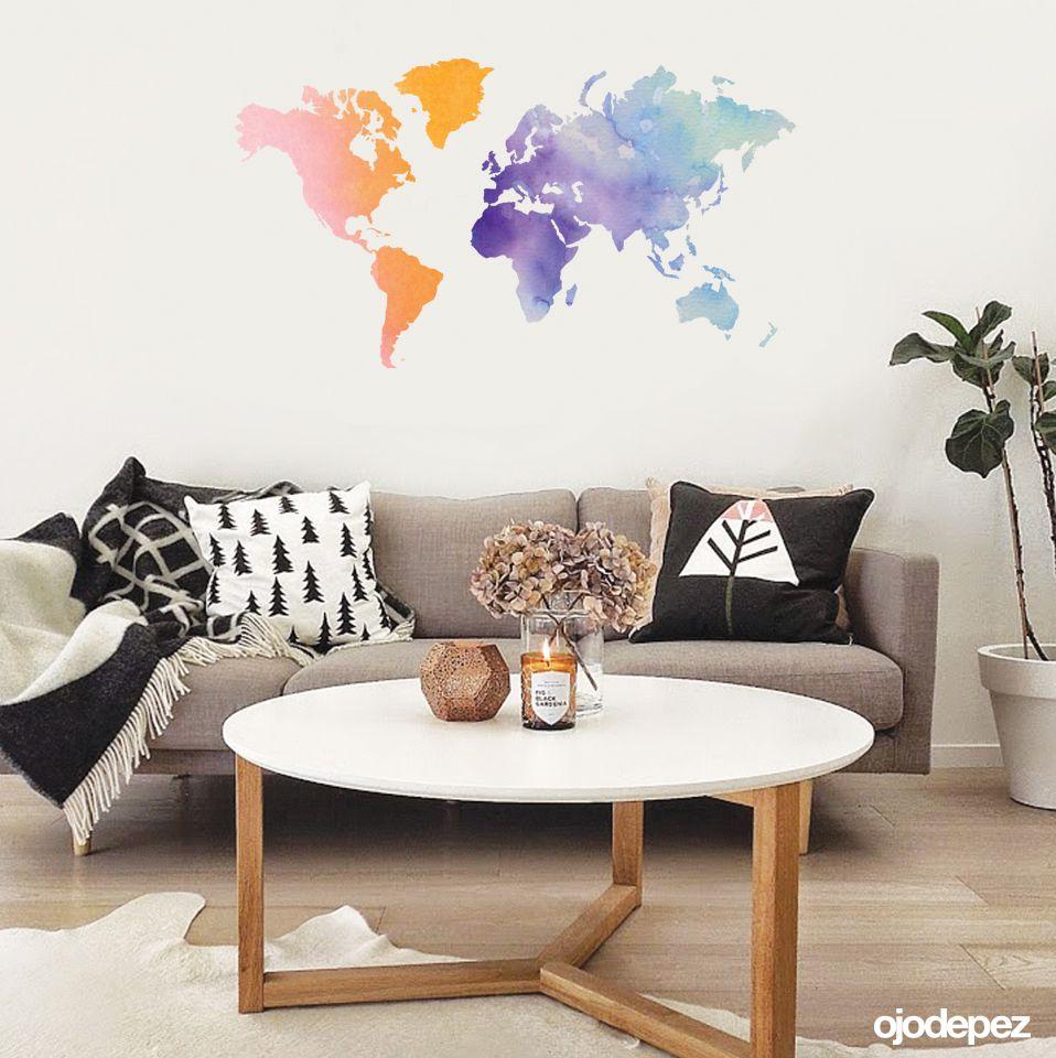 Home 049 Planisferio Watercolor
