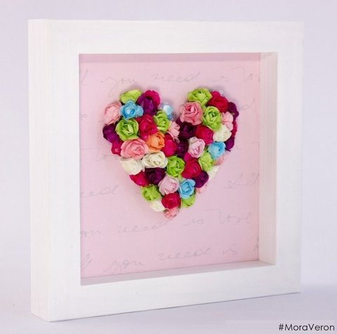 cuadro corazon con flores moraveron deco home all you need is love