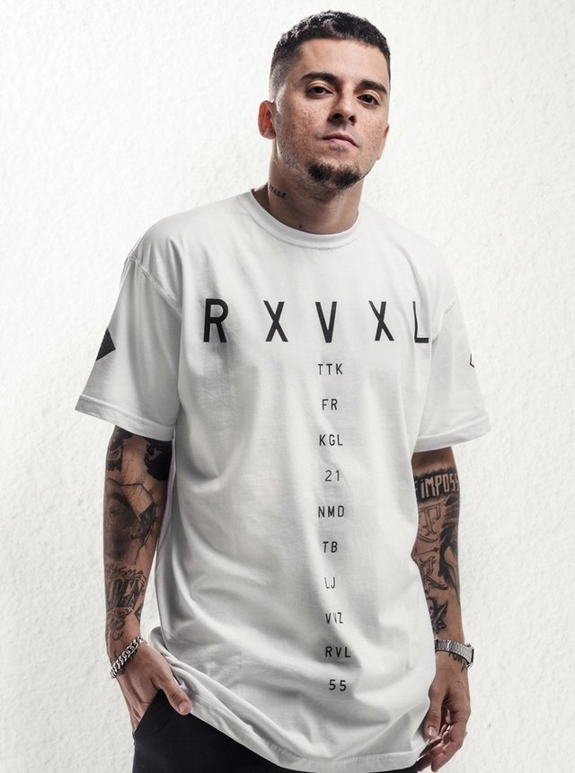Camiseta RXVXL BRANCA - Tudubom Records | Loja Virtual