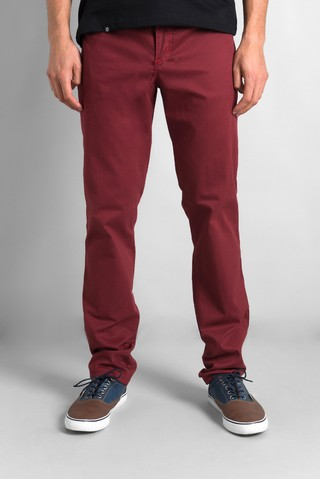 PANTALON CHUPIN ELASTIZADO DE COLOR BORDO