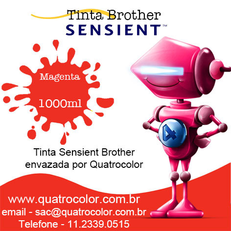 Tinta Sensient Formulabs Quatrocolor para Bulk Ink impressora Brother (4x1000 ml) - Quatrocolor