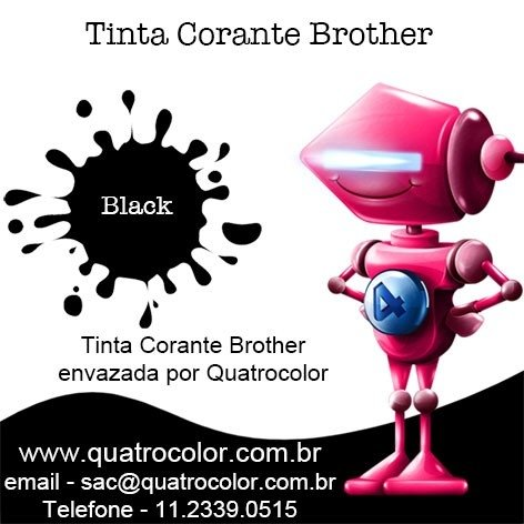 Tinta Corante Quatrocolor para Bulk Ink impressora Brother (4x100 ml) (cópia) - Quatrocolor