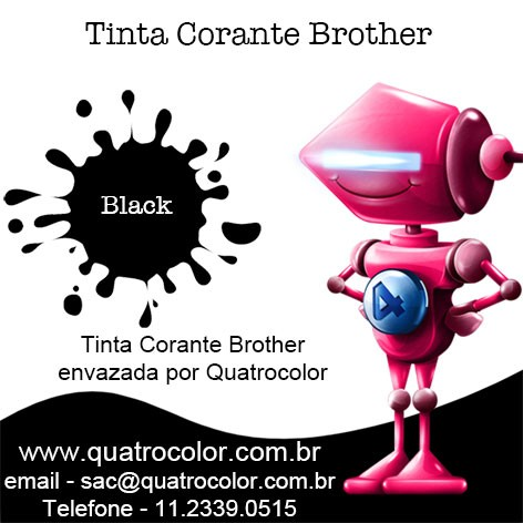 Tinta Corante Quatrocolor para Bulk Ink impressora Brother (4x100 ml) - Quatrocolor
