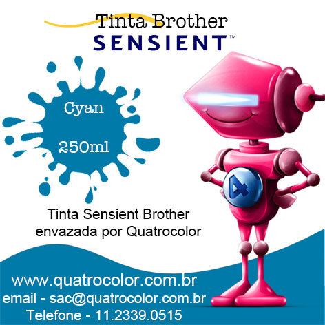 Tinta Sensient Formulabs Quatrocolor para Bulk Ink impressora Brother (4x250 ml) na internet