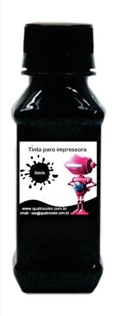 Tinta Corante Quatrocolor para Bulk Ink impressora Brother Black -250ml