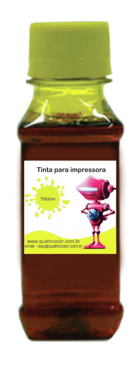 Tinta Corante Quatrocolor para Bulk Ink impressora Brother Amarela-250ml