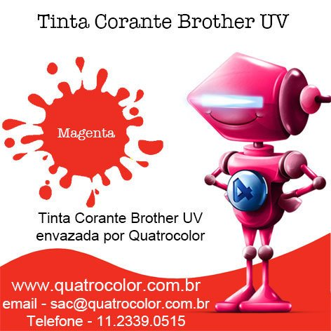Tinta Corante UV Quatrocolor para Bulk Ink impressora Brother (5x250 ml) - Quatrocolor