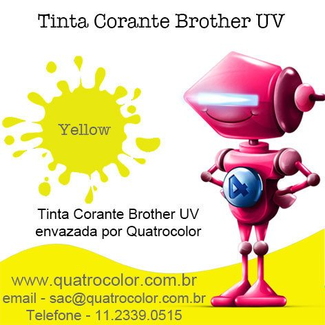 Tinta Corante UV Quatrocolor para Bulk Ink impressora Brother (5x250 ml) - loja online