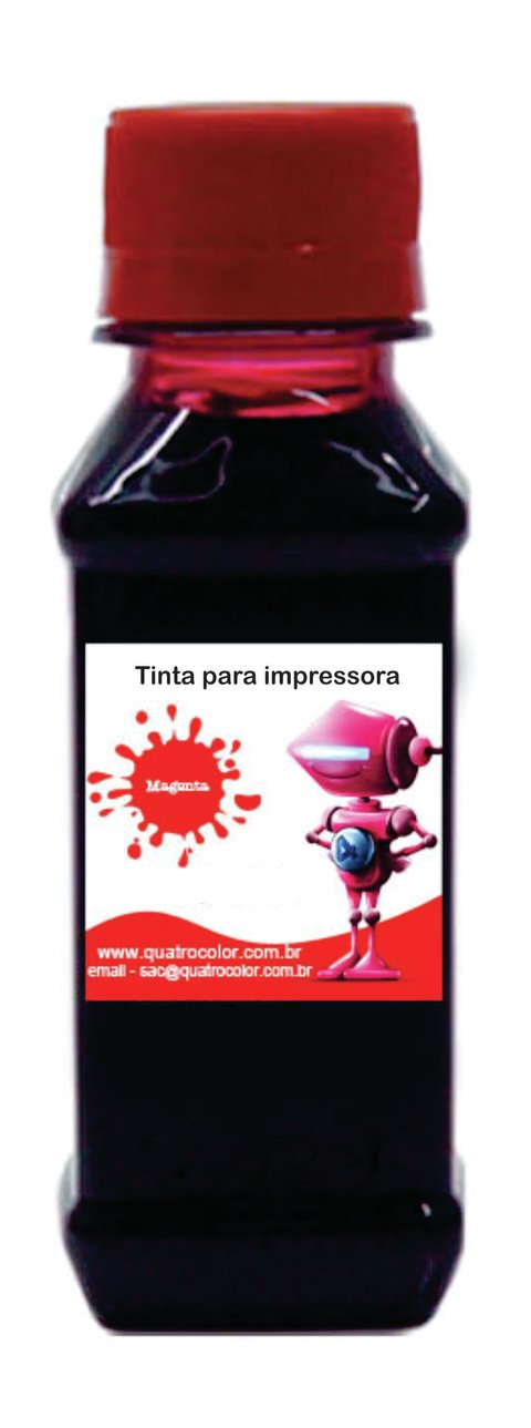 Tinta Corante UV Quatrocolor para Bulk Ink impressora Brother Vermelha-1000ml