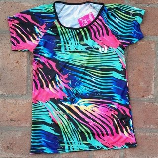 Remera mangas cortas sublimada entera,  tela Dry Fit