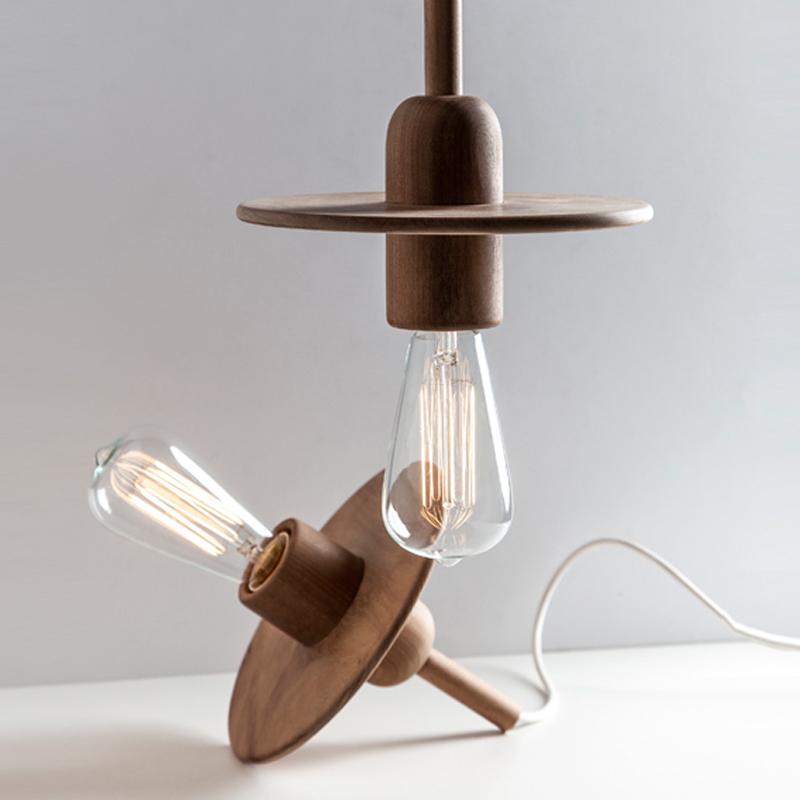 lampara colgante spin diseo en madera lampara eco comprar online