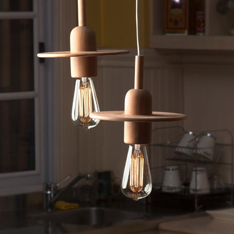lampara colgante spin diseo en madera lampara eco
