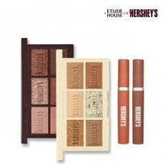 PREVENTE- HERSHEY'S Play Color Eyes Palette Mini #Original & #Cookie&Cream + Powder Rouge Tint
