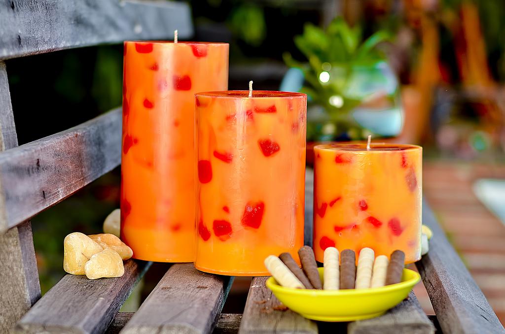 Juego velas decorativas aroma a galletas amora velas - Velas decorativas ...