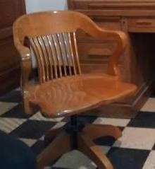 Escritorio Antiguo- Thompson-de Roble Eslavonia ,con Sillon - comprar online