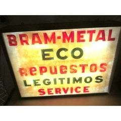 Antiguo cartel de Bram-Metal Eco  con luz