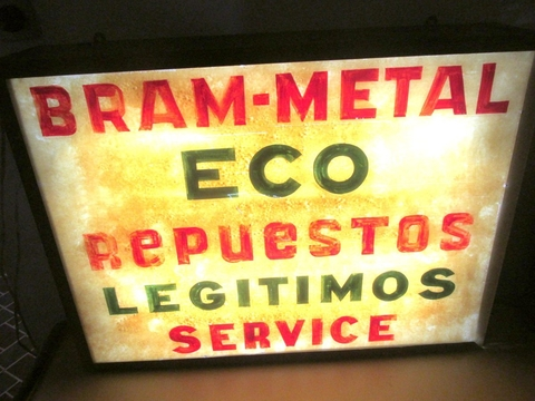 Antiguo Cartel De Bram-metal Eco Con Luz en internet