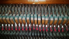 "Imagen de Importante Piano Antiguo Vertical Americano ""MFD By WING & SON NEW YORK GRAND SCALE 1910"""