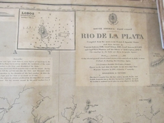 Antiguo Planimetro Mapa de la costa de Ensenada / Barragan. 1863. en internet