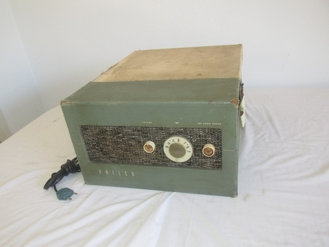 Polo Antiguo Tocadisco Philco Y Radio Año 1940 Valvular