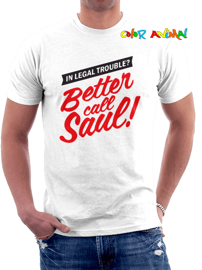 Better Call Saul  Remera 100% Algodon Estampado Vinilo Termotransferible