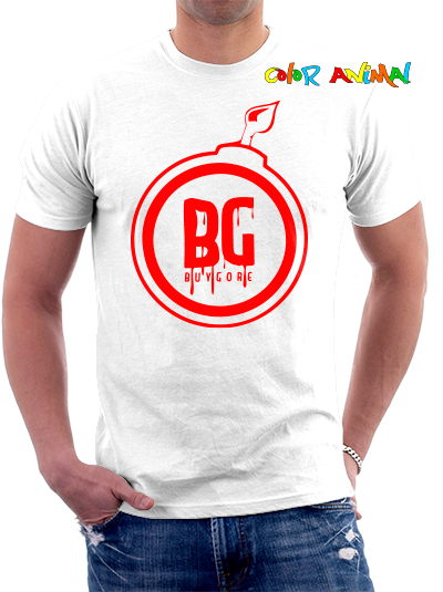 Buygore Bomb Remera Blanca Color Animal