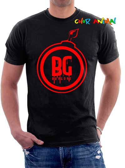 Buygore Bomb remera Negra Color Animal