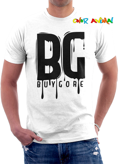 Buygore Logo Remera Blanca Color Animal