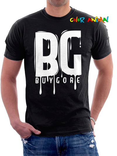 Buygore Logo Remera Negra Color Animal